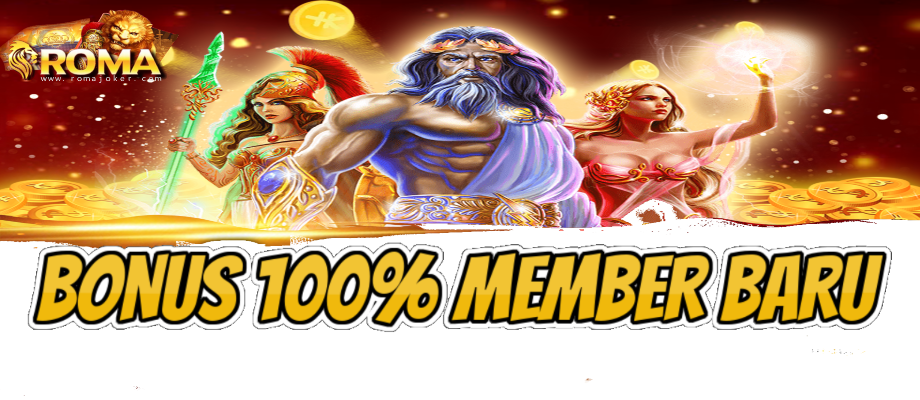 bonus 100% member baru romajoker.com
